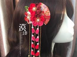 japanese hair accessories made hairpin cotton cloth hair clip barrettes japanese kimono