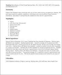 sample resume for patient care technician 79 marvelous sample job