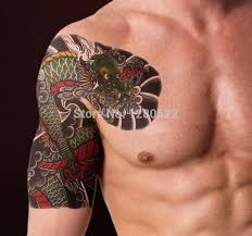 temporary shoulder sticker cool big tiger