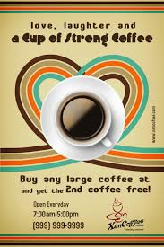 design poster buy coffee shop flyer template postermywall