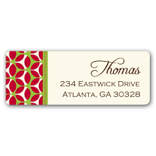 geometric retro return address labels paperstyle
