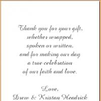 thank you card for wedding gift sle thank you cards for wedding gifts justsingit