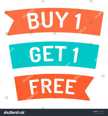 buy ribbon buy 1 get 1 free ribbon stock vector 513332311