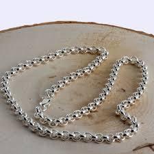 sterling necklace images Medium gauge 5 10mm diameter silver belcher chain necklace jpg