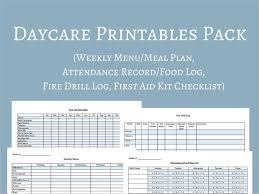 cacfp menu template daycare menu templates 11 free printable pdf documents
