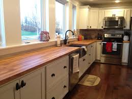 my take on butcher block countertops all in all i m still torn on if i would do them again if given the chance i kind of think i would have done granite instead but then i think about