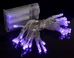 purple led mini string lights battery operated 11ft