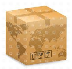 World Globe Map International Shipping Shipping Box With World Globe Map Vector