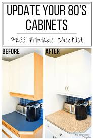 how to trim cabinets tips for updating melamine cabinets with oak trim the