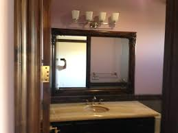 framed bathroom mirrors diy bathroom mirror wood frame home design ideas and pictures