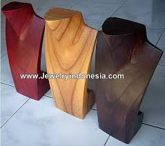 necklace jewelry display stand images Jewelry displays wood necklaces bust jewellery holders showcase jpg