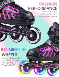 light up inline skates 2pm sports brice pink adjustable illuminating inline skates with