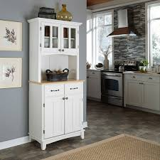 Hutch Kitchen Cabinets Home Styles Small Wood Bakers Rack With Two Door Hutch Hayneedle
