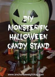 spirit halloween canada diy monsterific halloween candy stand anchors aweigh