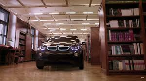 bmw i3 roams the corridors of a library in almost complete silence