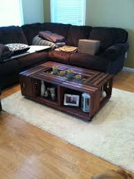 did the pinterest crate coffee table with a twist instead of