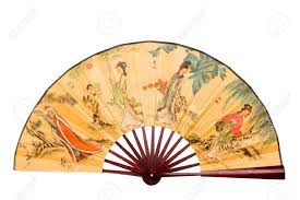 asian fan traditional fan colorful fan typical in asian countries