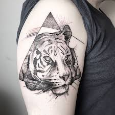 picture of half sleeve tiger