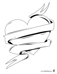 coloring page of a heart love pages and hearts omeletta me