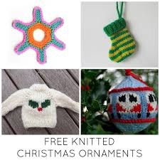 11 festive u0026 free knitted christmas ornaments