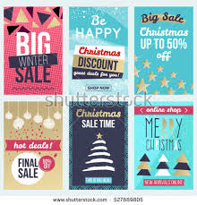 discount christmas cards set flat winter holidays christmas banners stock vector 527889805