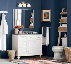 Pottery Barn Mirrors Bathroom by Ainsley Over The Toilet Ladder With Baskets Pottery Barn
