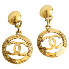 iconic earrings iconic chanel hoop earrings circa 1980s at 1stdibs