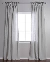 Tie Top White Curtains Tie Top Curtain Pom Pom Linen Voile