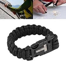 survival bracelet with whistle buckle images Relefree 9 quot survival paracord bracelet flint fire starter scraper jpg