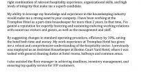 housekeeper resume objective template design hotel housekeeping