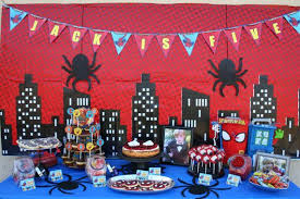 homemade spiderman birthday party decorations image inspiration