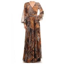 va va voom dresses va va voom printed sleeve maxi cocktail dress size 4 s