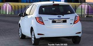 toyota yaris south africa price toyota yaris 5 door xr hsd specs in south africa cars co za