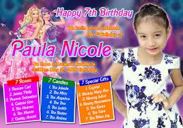 Barbie Invitation Card Jdr Grafix Tarpaulin Design