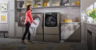 Pedestal Washing Machine Lg Twin Wash Mega Capacity 5 2 Cuft Turbowash Steam Washer W