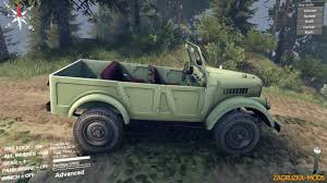 gaz 69 off road gaz 69 v1 0 for spin tires 2014 download game mods ets 2 ats