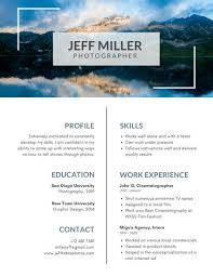 How To Insert A Photo In Resume Photo Resume Templates Canva