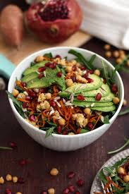 Noodle Salad Recipes Healthy Sweet Potato Noodle Salad With Chickpeas And Rocket