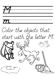 preschool tracer letter m worksheet homeschool helper coloring