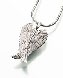 jewelry to hold ashes angel wings memorial pendants