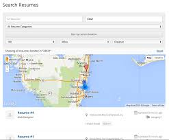 search resumes resume manager geolocation geo my wp
