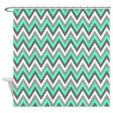 Turquoise And Grey Shower Curtain Grey Tiffany Blue Chevron Pattern Shower Curtain By Doodles Design