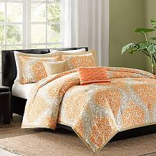 senna reversible duvet cover set in orange bed bath u0026 beyond