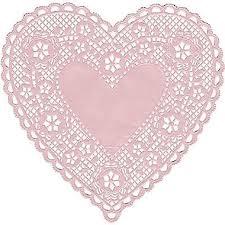 heart doilies hygloss heart paper lace doilies 6 pink hyg91065 staples