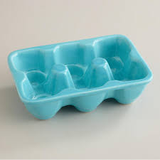 ceramic egg trays aqua ceramic half egg crate egg crates crates and aqua