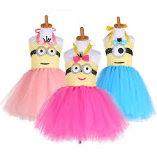 Baby Minion Costume Online Shop 2017 New Arrival Cartoon Tutu Dress Kids Minion