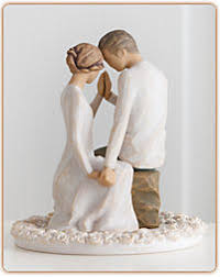 christian wedding cake toppers willow tree around you cake topper lifeway christian figurine