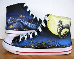 custom painted shoes the nightmare before and