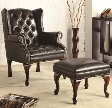 Black Leather Accent Chair Picture 4 Of 7 Leather Accent Chairs Black Leather