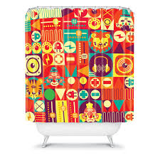 Deny Shower Curtains Funky Shower Curtains By Deny Design Apartment 80 Apartment 80